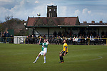 First-half action at Mount Pleasant as Marske United (in yellow) take on Billingham Synthonia in a Northern League division one fixture. Formed in 1956 in Marske-by-the-Sea, the home club had secured automatic promotion to the Northern Premier League two days before and were in the midst of a run of six home games in 10 days as they attempted to overtake Morpeth Town to win the league. They won this match 6-1 against already relegated Billingham, watched by a crowd of 196.