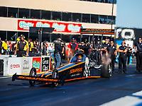 Jul 28, 2017; Sonoma, CA, USA; NHRA top fuel driver Mike Salinas during qualifying for the Sonoma Nationals at Sonoma Raceway. Mandatory Credit: Mark J. Rebilas-USA TODAY Sports