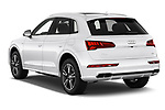 Car pictures of rear three quarter view of a 2020 Audi Q5 Premium 5 Door SUV angular rear