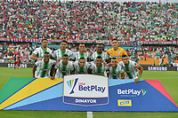MEDELLIN - COLOMBIA, 22-02-2020: Jugadores del Nacional posan para una foto previo al e partido por la fecha 6 entre Deportivo Independiente Medellín y Atlético Nacional como parte de la Liga BetPlay DIMAYOR I 2020 jugado en el estadio Atanasio Girardot de la ciudad de Medellín. / Players of Nacional pose to a photo prior Match for the date 6 between Deportivo Independiente Medellin and Atletico Nacional as a part BetPlay DIMAYOR League I 2020 played at Atanasio Girardot stadium in Medellin city. Photo: VizzorImage / Leon Monsalve / Cont