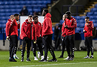 Salford City players inspecting the pitch before the match <br /> <br /> Photographer Andrew Kearns/CameraSport<br /> <br /> The EFL Sky Bet League Two - Bolton Wanderers v Salford City - Friday 13th November 2020 - University of Bolton Stadium - Bolton<br /> <br /> World Copyright © 2020 CameraSport. All rights reserved. 43 Linden Ave. Countesthorpe. Leicester. England. LE8 5PG - Tel: +44 (0) 116 277 4147 - admin@camerasport.com - www.camerasport.com