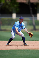 Tampa Bay Rays Robbie Tenerowicz (86) warms up before a Minor League Spring Training game against the Minnesota Twins on March 17, 2018 at CenturyLink Sports Complex in Fort Myers, Florida.  (Mike Janes/Four Seam Images)