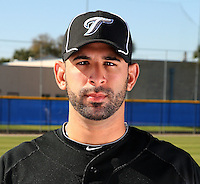 March 1, 2010:  Outfielder Jose Bautista (19) of the Toronto Blue Jays poses for a photo during media day at Englebert Complex in Dunedin, FL.  Photo By Mike Janes/Four Seam Images
