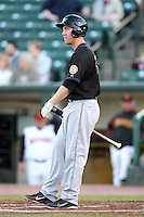Louisville Bats outfielder Todd Frazier #50 at bat during a game against the Rochester Red Wings at Frontier Field on May 9, 2011 in Rochester, New York.  Rochester defeated Louisville by the score of 7-6 in a marathon 18 inning game.  Photo By Mike Janes/Four Seam Images