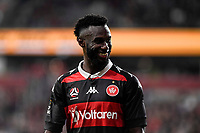 1st May 2021; Bankwest Stadium, Parramatta, New South Wales, Australia; A League Football, Western Sydney Wanderers versus Sydney FC; Bernie Ibini of Western Sydney Wanderers leaves the field to chants from the Sydney fans