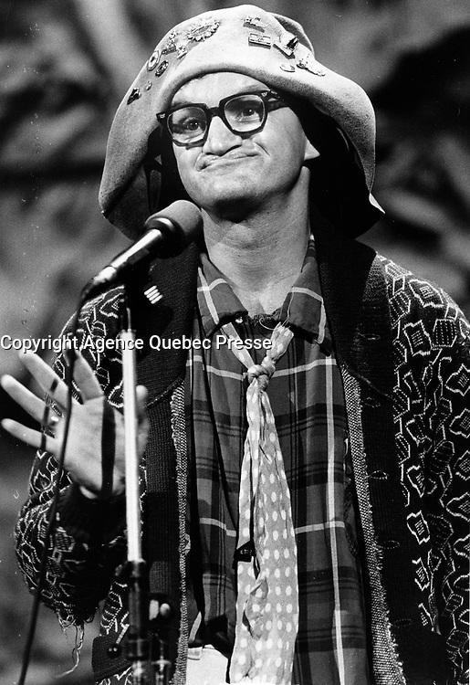 "Montreal (Qc) CANADA - ca 1988 File Photo - Michel Barette :  Roland""hi ha"" Tremblay<br /> <br /> PHOTO :  Agence Quebec Presse"