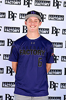 Austin Hallman (6) of Marina High School in Huntington Beach, California during the Baseball Factory All-America Pre-Season Tournament, powered by Under Armour, on January 12, 2018 at Sloan Park Complex in Mesa, Arizona.  (Mike Janes/Four Seam Images)