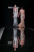 Modelle vestono le creazioni della collezione Autunno Inverno 2014/2015 di Rani Zakhem durante la rassegna Altaroma, a Roma, 13 luglio 2014.<br /> Models wear creations by Rani Zakhem's Fall Winter 2014/2015 collection at the Altaroma fashion week in Rome, 13 July 2014.<br /> UPDATE IMAGES PRESS/Isabella Bonotto