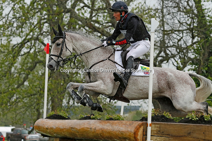 April 24, 2021: #68 Ballaghmor Class and rider Oliver Townend from Great Britain  finish the Cross Country course in first place at the Land Rover Three Day Event at the Kentucky Horse Park in Lexington, KY on April 24, 2021.  Candice Chavez/ESW/CSM