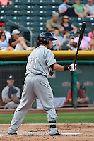 Blake Lalli (21) of the Reno Aces at bat against the Salt Lake Bees in Pacific Coast League action at Smith's Ballpark on July 23, 2014 in Salt Lake City, Utah.  (Stephen Smith/Four Seam Images)