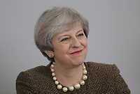 British Prime Minister Theresa May during the Swansea Bay City Region deal, at the Liberty Stadium, Swansea, Wales, UK. Monday 20 March 2017.