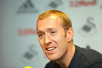 Thursday, 07 November 2012<br /> Pictured: Second goalkeeper Gerhard Tremmel.<br /> Re: Barclays Premier League, Swansea City FC press conference at the Liberty Stadium, south Wales.