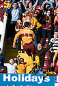 :: MOTHERWELL'S JOHN SUTTON CELEBRATES AFTER HE  SCORES THE SECOND FROM THE SPOT ::