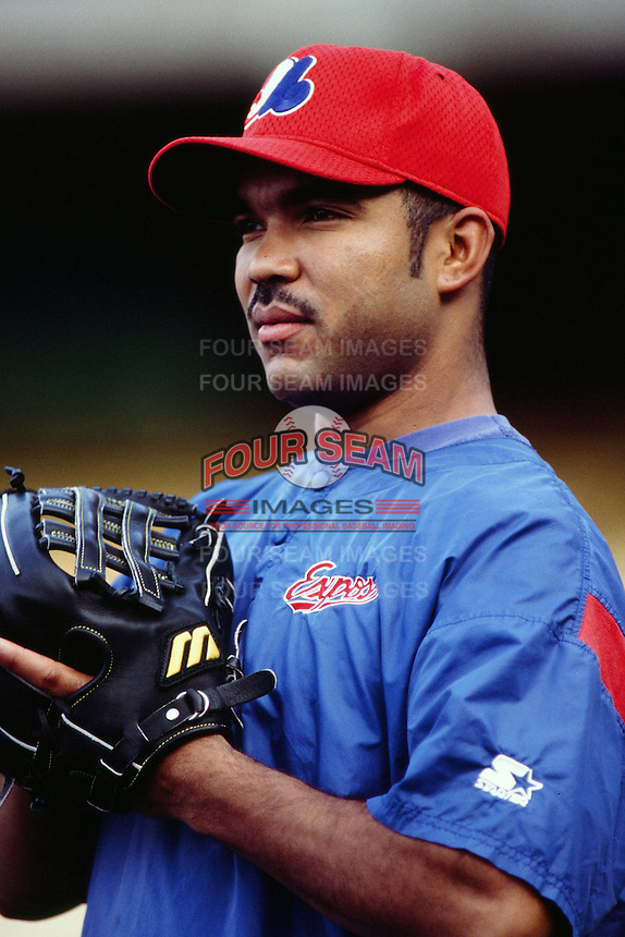 Ugueth Urbina of the Montreal Expos during a game against the Los Angeles Dodgers at Dodger Stadium circa 1999 in Los Angeles, California. (Larry Goren/Four Seam Images)