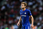 Chelsea Defender Marcos Alonso in action during the International Champions Cup match between Chelsea FC and FC Bayern Munich at National Stadium on July 25, 2017 in Singapore. Photo by Marcio Rodrigo Machado / Power Sport Images