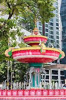 Brickfields Junction Fountain, Little India, Kuala Lumpur, Malaysia.