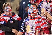 USA fans celebrate the USA National team defeating Algeria 1-0 to win Group C and advancing to the second round of the 2010 FIFA World Cup.  USA played Algeria in a 2010 FIFA World Cup first round match at Loftus Versfeld Stadium in Tshwane/Pretoria, South Africa on Wednesday, June 23, 2010.