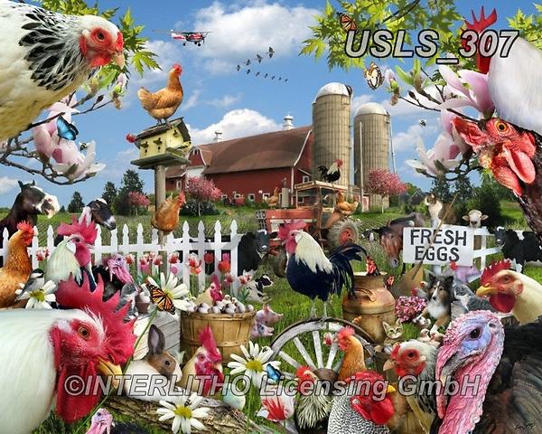 Lori, LANDSCAPES, LANDSCHAFTEN, PAISAJES, paintings+++++Spring_Chickens_72,USLS307,#l#, EVERYDAY ,puzzle,puzzles