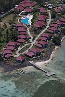 France/DOM/Martinique/Le François: Hôtel Cap Est Lagoon Resort & Spa et la barrière de corail - vue aériennne