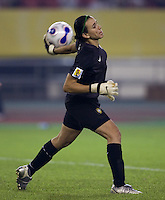 Brazil goalkeeper (1) Andreia. Brazil (BRA) defeated the United States (USA) 4-0 during the FIFA Women's World Cup China 2007 at Hangzhou Dragon Stadium in Hangzhou, China, on September 27, 2007. Brazil advances to the finals, while the United States will play in the third place game on September 30th.