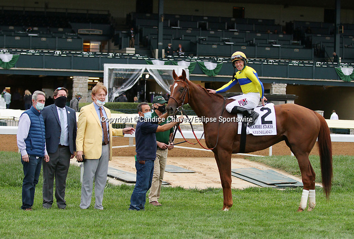 Octover 15, 2020 : #2 Red Knight and jockey James Graham win the Sycamore Grade 3 $150,000 for trainer William Mott at Keeneland Racecourse in Lexington, KY on October 15, 2020.  Candice Chavez/ESW/CSM
