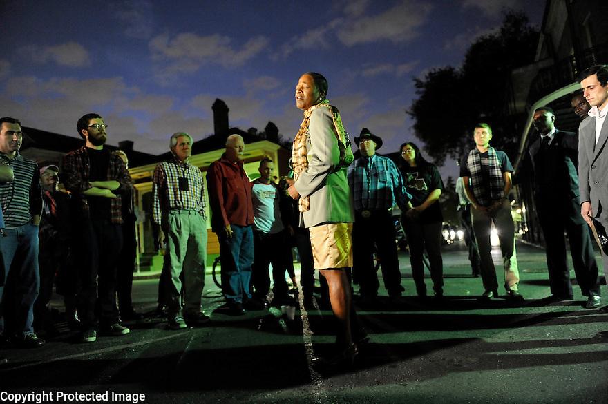 A candle light vigil after the murder of popular bartender Wendy Byrne, 2009.