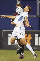 Manny Lagos of the Earthquakes looks to control a ball. Lagos had one goal and one assist for the game. The San Jose Earthquakes and the the NY/NJ MetroStars played to a 4-4 tie on 7/02/03 at Giant's Stadium, NJ..