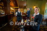 Staff getting ready to welcome customers back at the Rose Hotel are staff: Jennifer Dee, Mark Sullivan, General Manager and Orla Greaney.