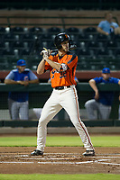 AZL Giants right fielder Nick Hill (22) at bat during Game Three of the Arizona League Championship Series against the AZL Cubs on September 7, 2017 at Scottsdale Stadium in Scottsdale, Arizona. AZL Cubs defeated the AZL Giants 13-3 to win the series two games to one. (Zachary Lucy/Four Seam Images)