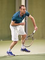 March 7, 2015, Netherlands, Hilversum, Tulip Tennis Center, NOVK, Frank van de Heuvel (NED)<br /> Photo: Tennisimages/Henk Koster