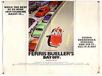 BNPS.co.uk (01202) 558833. <br /> Pic: Ewbank'sAuctions/BNPS<br /> <br /> Pictured: This poster for Ferris Bueller's Day Off sold for £1,065. <br /> <br /> A selection of classic horror and sci-fi film posters have sold for £85,000.<br /> <br /> The marquee lot was a British quad 30ins by 40ins poster for Forbidden Planet which fetched £12,000, three times its estimate.<br /> <br /> It features the memorable first image of Robby the Robot holding a damsel in distress.<br /> <br /> A poster promoting the Christopher Lee film Dr Terror's House of Horrors (1965) also outperformed expectations, selling for £2,750, while one advertising the first Star Wars film (1977) fetched £4,750.<br /> <br /> The posters, which were consigned by different collectors, sparked a bidding war with Ewbank's Auctions, of Woking, Surrey.