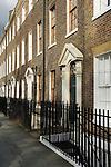 Highbury Fields London N1. Typical Georgian terrace houses. UK 2008.
