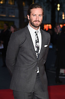 """Armie Hammer<br /> at the London Film Festival 2016 premiere of """"Free Fire at the Odeon Leicester Square, London.<br /> <br /> <br /> ©Ash Knotek  D3182  16/10/2016"""