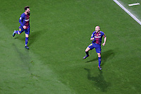 FC Barcelona's Leo Messi and Andres Iniesta celebrate goal during Spanish King's Cup Final match. April 21,2018. (ALTERPHOTOS/Acero)