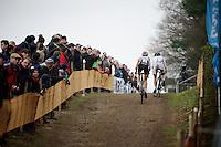 Sanne Cant (BEL) & Sabrina Stultiens (NLD/Rabobank-Liv)<br /> <br /> Zolder CX UCI World Cup 2014