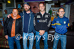 Enjoying the Tyrone and Mayo in Linnanes bar Tralee on Saturday, l to r: Terry Andrews, Sean Coughlan, Kevin O'Shea and Robert Morris.