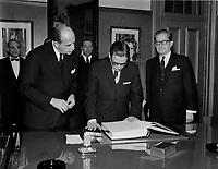 ARCHIVE - <br /> Le Premier ministre Daniel Johnson, Avril 1968<br /> (date exacte inconnue), Quebec<br /> <br /> PHOTO :  AQP -  Photo Moderne