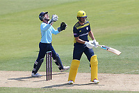 Adam Wheater of Essex celebrates his catch to dismiss Joe Weatherley from the bowling of Simon Harmer during Hampshire Hawks vs Essex Eagles, Royal London One-Day Cup Cricket at The Ageas Bowl on 22nd July 2021