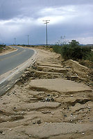 Eroded highway<br />