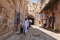 Israel,Jerusalem,street walk in the muslim quarter