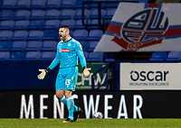 Bolton Wanderers' goalkeeper/coach Matthew Gilks bellows at his defence<br /> <br /> Photographer Andrew Kearns/CameraSport<br /> <br /> The EFL Sky Bet League Two - Bolton Wanderers v Salford City - Friday 13th November 2020 - University of Bolton Stadium - Bolton<br /> <br /> World Copyright © 2020 CameraSport. All rights reserved. 43 Linden Ave. Countesthorpe. Leicester. England. LE8 5PG - Tel: +44 (0) 116 277 4147 - admin@camerasport.com - www.camerasport.com