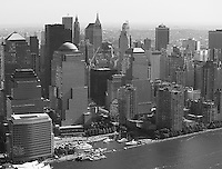 aerial photograph World Trade Center Manhattan, New York City