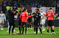 Jubel ein Eintracht Frankfurt nach dem 3:0 Sieg gegen Schalke - 11.11.2018: Eintracht Frankfurt vs. FC Schalke 04, Commerzbank Arena, DISCLAIMER: DFL regulations prohibit any use of photographs as image sequences and/or quasi-video.