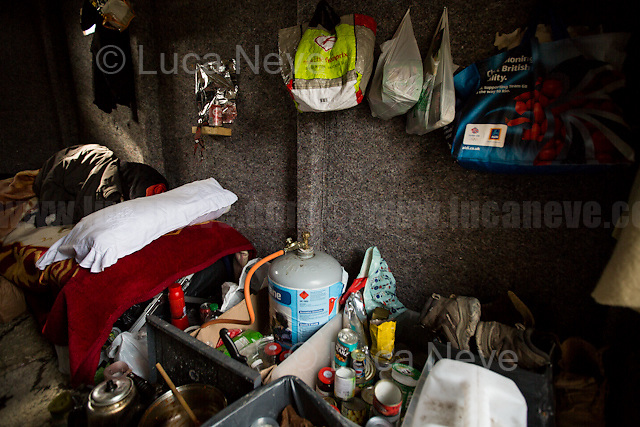 """Abu Bashir's Home. <br /> <br /> Calais Jungle Camp.<br /> <br /> Under the Sky of Calais & Dunkirk. Two Camps, Two Sides of the Same Coin: Not 'migrants', Not 'refugees', just Humans.<br /> <br /> France, 24-30/03/2016. Documenting (and following) Zekra and her experience in the two French camps at the gate of the United Kingdom: Calais' """"Jungle"""" and Dunkirk's """"Grande-Synthe"""". Zekra lives in London but she is originally from Basra in Iraq. Zekra and her family had to flee Kuwait - where they moved for working reason - due to the """"Gulf War"""", and to the Western Countries' will to """"export Democracy in Iraq"""". Zekra is a self-motivated volunteer and founder of """"Happy Ravers"""", a group of people (not a NGO or a charity) linked to each other because of their love for rave parties but also men and women who meet up every week to help homeless people and other people in need in Central London. (Here there are some of the stories I covered about Zekra and """"Happy Ravers"""": http://bit.ly/1XVj1Cg & http://bit.ly/24kcGQz & http://bit.ly/1TY0dPO). Zekra worked as an English teacher in the adult school at Dunkirk's """"Grande-Synthe"""" camp and as a cultural mediator and Arabic translator for two medic teams in Calais' """"Jungle"""". Please read her story at the beginning of this reportage."""