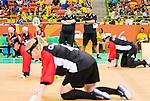 Rio 2016 - Goalball. <br /> Team Canada competes in Women's Goalball preliminary against China // Équipe Canada participe aux préliminaires du goalball féminin contre la Chine. 12/09/2016.