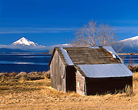 Barn at Upper Klamath Lake below Mt. McLoughlin; Winema National Forest, OR