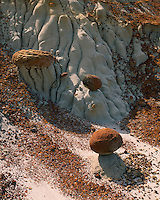Cannonball concretions in badlands of the North Unit; Theodore Roosevelt National Park, ND