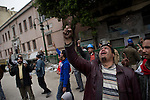 """© Remi OCHLIK/IP3 -  February 5 2011  CAIRO - The top leadership body of Egypt's ruling party resigned Saturday, including the president's son, but the regime appeared to be digging in its heels, calculating that it can ride out street demonstrations and keep President Hosni Mubarak in office. Protesters have refused to end their mass rallies in downtown Tahrir Square until Mubarak quits. Tens of thousands gathered Saturday in Tahrir, waving flags and chanting a day after some 100,000 massed there in an intensified demonstration labeled """"the day of departure,"""" in hopes it would be the day Mubarak leaves...Their unprecedented 12-day movement has entered a delicate new phase. Organizers fear that without the pressure of protesters on the street, Mubarak's regime will enact only cosmetic reforms and try to preserve its grip on power. So they are reluctant to lift their demonstrations without the concrete gain of Mubarak's ouster and a transition mechanism that guarantees a real move to democracy afterward"""