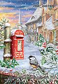 Marcello, CHRISTMAS ANIMALS, WEIHNACHTEN TIERE, NAVIDAD ANIMALES, paintings+++++,ITMCXM2162C,#xa# ,post box