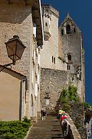 Escalier des pelerins ou Grand escalier et le sanctuaire